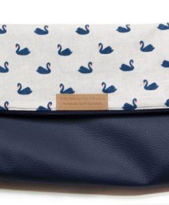 Handbag with blue Ducks