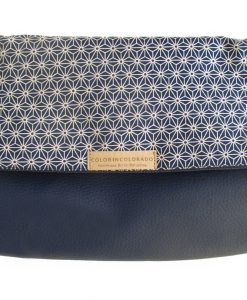 Handbag with Geometric stars on blue