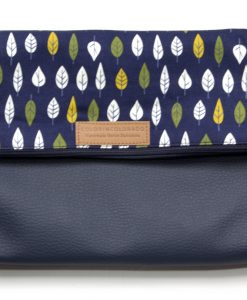 Handbag with colorful trees