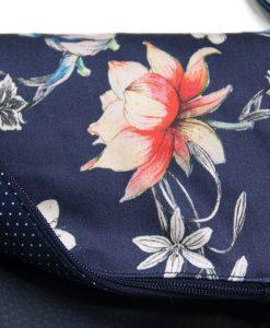 Handbag blue flowers