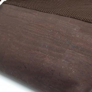 Brauner Kork einer Handtasche