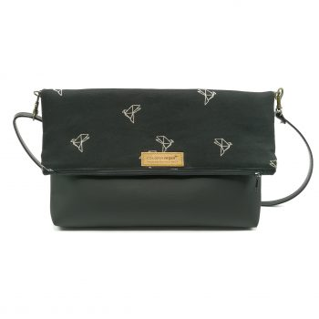 Duo vegan Hanbag cork black birds