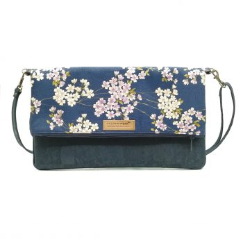 Duo vegan Hanbag cork blue japan