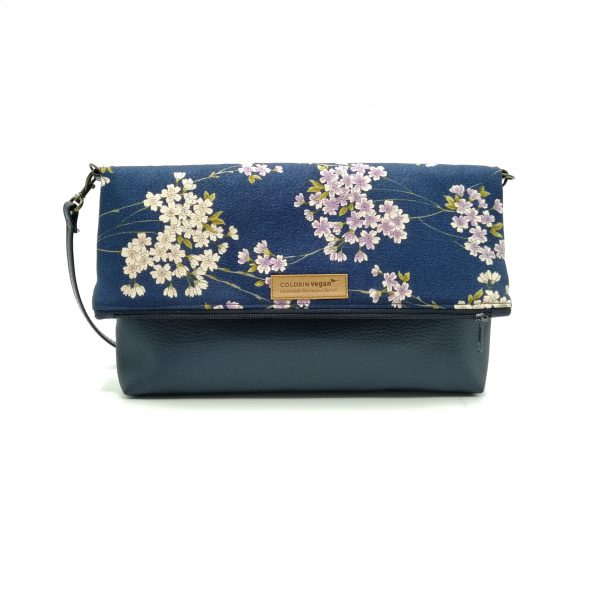 Duo vegan Hanbag wiht japanese cherry flowers