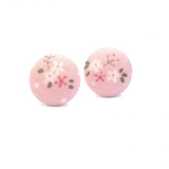 Earrings Pink Rose