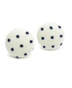 Earrings with Black Dots on White