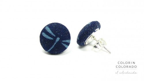 Earrings-with-Blue-Dragonfly-on-Dark-Blue-1