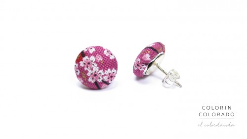 Earrings-with-Japanese-Pink-White-Flower-on-Pink-1