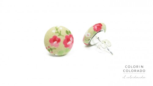 Earrings-with-Pink-Rose-White-Dots-on-Grey-1