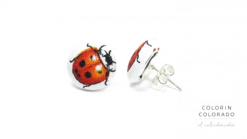 Earrings-with-Red-Ladybug-on-White-1