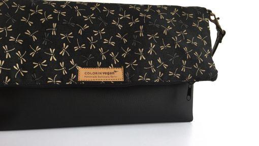 Handbag on black