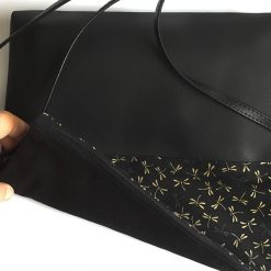 Handbag on black Dragonfly