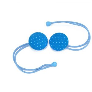 Hair Tie with White Dots on Blue