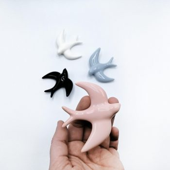 Ceramic handcrafted swallow mini