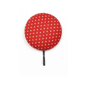 Large Hair Pin with White Dots on Red