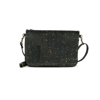 Mini vegabn Hanbag cork black gold1