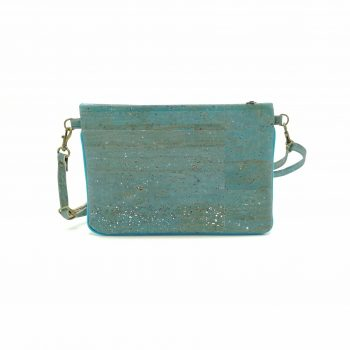 Mini Hanbag vegan cork blau silver