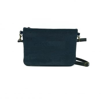 Mini vegan Hanbag cork blue dark