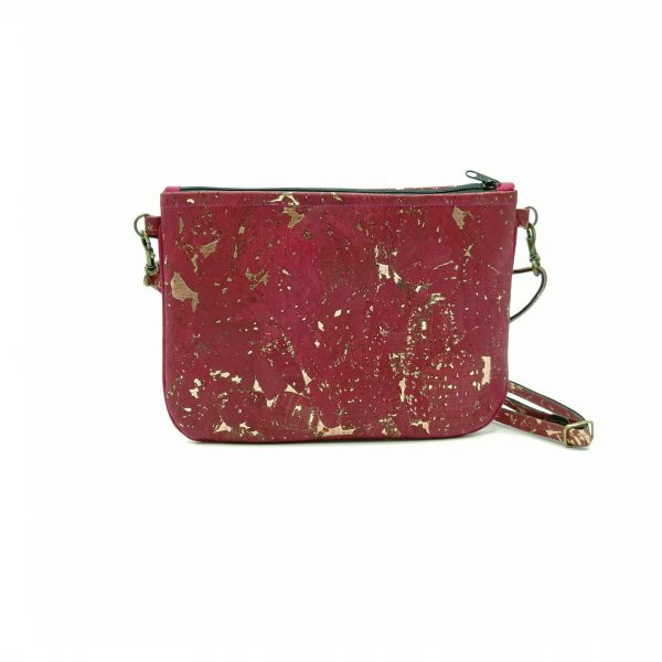 Mini vegan Hanbag cork wine red