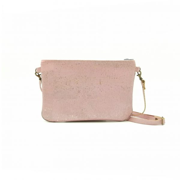 Mini vegan Hanbag cork pink light