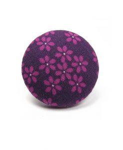Ring with Purple Flower on Dark Purple