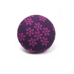 Ring with Purple Flower on Dark Purple