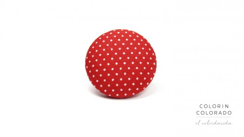 Ring with White Dots on Red