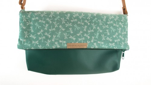 Handbag dragonfly green
