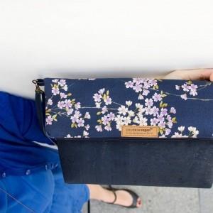 Korck Handtasche aus Kork  Kirschblütenmuster