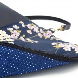 Korck Handtasche aus Kork mit japanischen Kirschblütenmuster